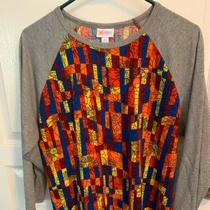 LulaRoe Randy shirt, fun bright colors!